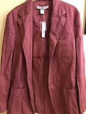 NWT Women's LT Field Gear 100% Cotton Wave Med. Red Button Long Sleeve Blazer