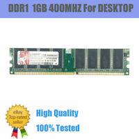 Pour Kingston 1GB DDR1-400MHz PC1-3200 184pin 2.5V CL9 DIMM Desktop Memory Lot