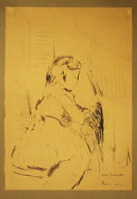 RITRATTO DI BAMBINA - Leone Lorenzetti - Disegno Originale 1948 - Portrait Girl
