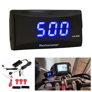 Universal Motorcycle Digital Square LCD Display Tach Hour Meter Tachometer Gauge