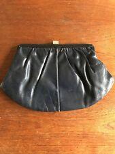 Vintage Leather Clutch Bag 1950's