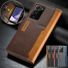 For Samsung Galaxy Note 20 Ultra, Flip Leather Wallet Purse Card Soft Case Cover