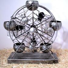 Ferris Wheel Votive Candle Holder Stand Spider Web Hallows Eve Halloween Decor
