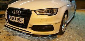 Audi A3 / S3 S-Line 2013-2016 8V Side Skirt Extensions & Front Lip 5dr HT Autos