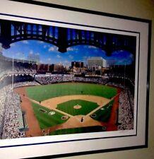 New York Yankee Stadium Encadré Lithographie Dix Quatre Sixty Un Édition Limitée