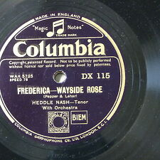 "78rpm 12"" HEDDLE NASH frederica - wayside rose / oh maiden my maiden"