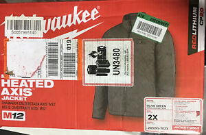 Milwaukee M12 Heated AXIS 2X Jacket Green Quilted Adapter Included 203OG-21