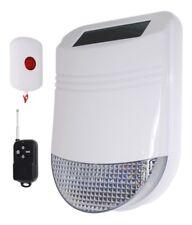 PANIC ALARM with Solar Powered Wireless Siren & 2 x Panic Buttons