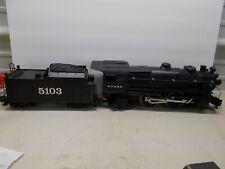 Lionel~ A.T. & S.F. 4-4-2 Steam Locomotive # 5103 & Tender With Smoke ~G Scale