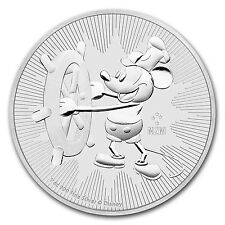 2017 Niue 1 oz Silver $2 Disney Steamboat Willie BU - SKU# 117779