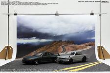 [HAKONIWAGIKEN] Diorama Sheet PRO-M Winding Road A1 600x900mm 1/18 1/24 backdrop