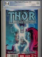 THOR GOD OF THUNDER #25 MARVEL (2014) 1st Jane Foster Thor PGX 9.4! WOW!