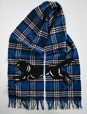 New Authentic GUCCI RUNNING WOLF Embroidery CHECK Print 100% WOOL Long Scarf