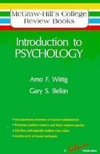 Introduction to Psychology (Mcgraw-Hill College Review Books Series) Wittig, Ar