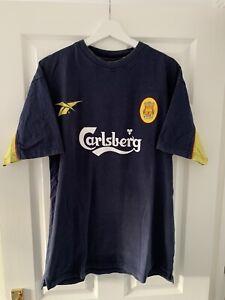 *Rare**Vintage* Liverpool 1997/98 Large Training Football Shirt T-Shirt