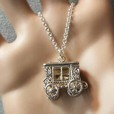 new sterling silver large gipsy caravan pendant & chain