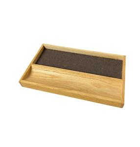 """70s MCM 10"""" Drexel Esperanto Dresser Drawer Sliding Felt Wood Jewelry Valet"""