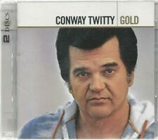 """CONWAY TWITTY 2 CD SET """"GOLD"""" 40 Great Tracks - N/Mint"""