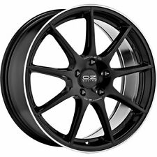 OZ RACING VELOCE GT GLOSS BLACK+DIAMOND LIP+SILV LETTER WHEEL 18X8 ET35 5X112