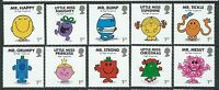 GREAT BRITAIN 2016 MR. MEN AND LITTLE MISS SET OF 10 SINGLES UNMOUNTED MINT, MNH