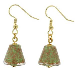 GlassOfVenice Murano Glass Starlight Cones Earrings - Seafoam Green