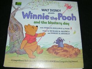 WINNIE THE POOH And Blustery Day Sterling Holloway LP Disneyland w Bk 68 Red Lbl