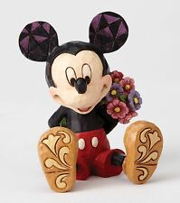 Disney Traditions Mickey Mouse With Flowers Mini Figurine Ornament 7cm 4054284