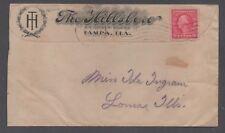 "*Us 20th Century Advertising Cover, Tampa, Fl, 6/2/1917 ""The Hillsboro"""