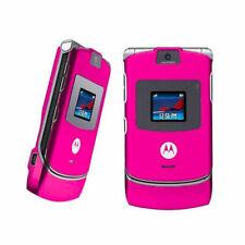Motorola Razr V3 Original Unlocked Cellular Cell Phone Flip Mobile Phone Pink