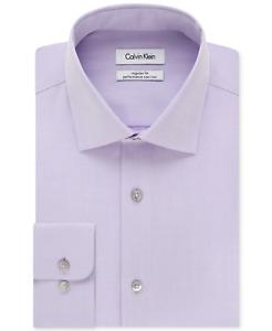 Calvin Klein Big & Tall Dress Shirt Mens Classic-Fit Steel+ 100% Cotton Non-Iron