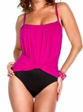 Miraclesuit 475677 COLORBLOCK JERRY TUMMY CONTROL Swimsuit Sz 8 Black pink