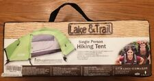 ⛺️ LAKE & TRAIL SINGLE PERSON HIKING BACKPACKING TENT Band New