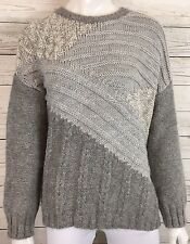 Current/Elliott Womens The Mixed Cable Knit Sweater Gray Size 2 (Small) NWT