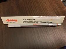 rOtring 800 Retractable Ballpoint Pen Medium Point Silver NEW
