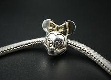 Chamilia Disney 14k Gold Sterling Silver Retired Minnie Mouse Charm CHS461