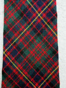 TARTAN RED BLUE GREEN YELLOW 3.75 INCH POLYESTER NECK TIE CAMERON OF ERRACHT
