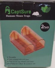 New listing New Humane Smart Mouse Trap Live Catch & Release Rodent Cage Box 2 Pack