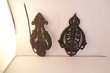 New listing Vintage Pair of Metal Curtain Tieback Holdback Curtains Hooks Flower Column