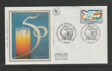 FRANCE 1995 SG3291 Yvert 2975 soie FDC (Paris) 50th Anniv of United Nations ORG.