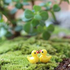 New listing 10pcs Miniature Resin Yellow Ducks Dollhouse Craft Fairy Garden Bonsai Decor Qy