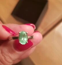 Genuine Parabia Tourmaline Sterling Silver Ring Size 0