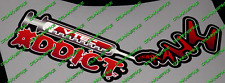 VTEC ADDICT NEEDLE REFLECTIVE STICKER HONDA CIVIC TYPE R EP3 FN2 FK2 FK8 FUNNY