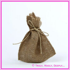 Hessian Bag Brown - Approx 9.5 x 12 - Wedding Bomboniere / Favor Bag