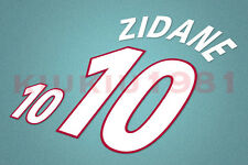 France Zidane #10 EURO 2000 Homekit Nameset Printing