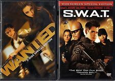 Wanted (DVD, 2008, 2-Disc Set, Special Edition) & S.W.A.T. (DVD, 2003, WS, S.E.)