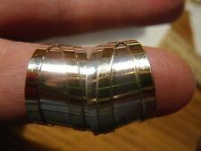 Solid 14K 2-tone Gold Hoop Earrings set NABCO18mmx19mm 4.3g not scrap