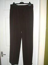 £3.99 BNWT Ladies Chocolate Trousers Size 14. Great for work  & every day wear
