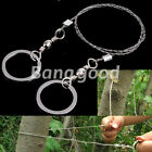 New Steel Wire Saw Outdoor Emergency Camping Hiking Hunting Travel Survival Tool