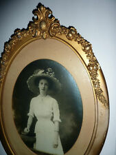 Antique gesso BARBOLA Roses PICTURE FRAME antique victorian hat