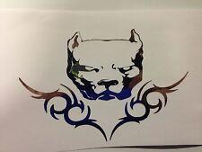 pit bull sticker pitbull american bully decal sticker Chrome *B163*